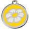 Sunny Yellow Enamel Daisy ID Tags