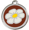 Dig the Earth with our Daisy on Chocolate Enamel ID Tags