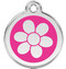 Bright Pink Daisy Engraved Pet Tag