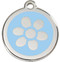 Light Blue Enamel Pet Tags