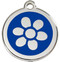 Collar Tags with Dark Blue Enamel on Stainless Steel