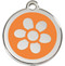 Orange Flower Personalized Pet ID Tags