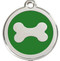 Fresh Green Enamel and Stainless Steel Come Together on These Shiny Bone ID Tags for Dogs.