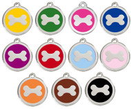 Select from 11 Enamel Colors to Create Your Personalized Bone ID Tags.