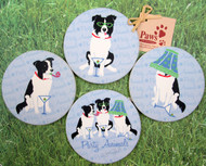 Our Border Collie Party Animal Coasters make for unique dog-lover gifts.