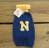 Hand-knit Navy Blue Dog Sweaters are made in USA