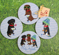 Dachshund Party Animal Coasters are sure to lift spirits.