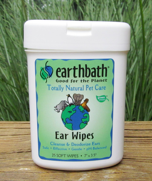 Natural Pet Ear Wipes made in USA