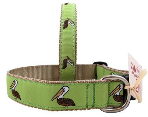 Sharp Pelican Dog Collars on Khaki Webbing
