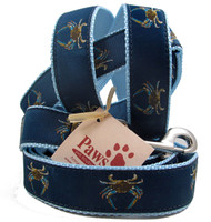 Blue Crab Leashes with light blue webbing.