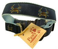 Blue Crab Dog Collars made in USA.