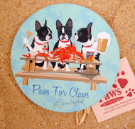 Crabs and Boston Terriers Coaster Set
