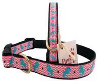 Seahorse Dog Collars feature durable quick release buckles.