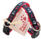 Patriotic colored nautical dog collars for small dogs are USA made.