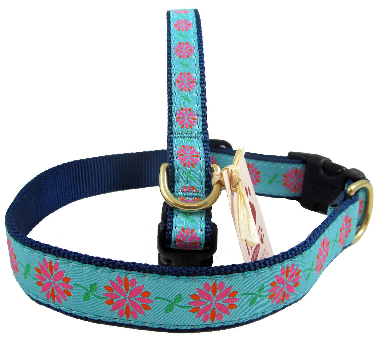 Dahlia Pink Floral Dog Collars At Pawspetboutique