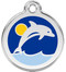 Enamel Dolphin ID Tags in Stainless Steel with Free Shipping