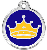 Crown Id Tags are Made with Stainless Steel and Enamel.