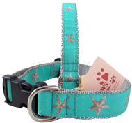 Starfish Dog Collars with a Soothing Teal Background