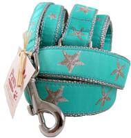 Starfish Dog Leashes with Silver Webbing