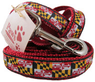 "Maryland State Flag Dog Leashes in 3/4"" Width"
