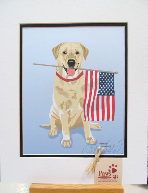 Yellow Lab Prints are U.S. Made and May not be Reproduced