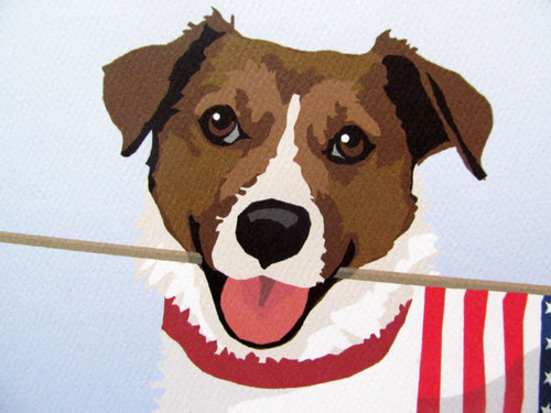 Jack Russell print face detail