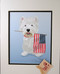 Westie Prints with American Flag