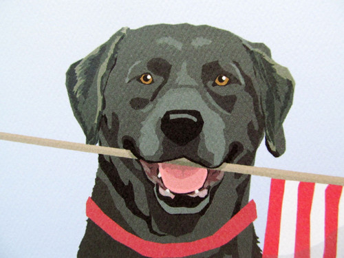 Classic American Art! Sara's Black Lab Prints are copyrighted and may not be reproduced.