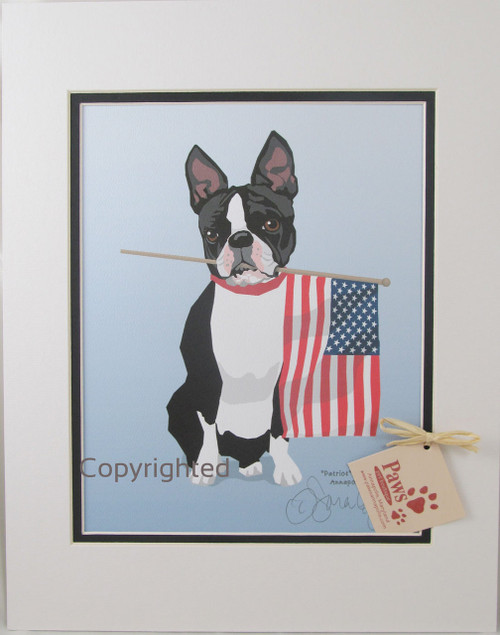 All-American Boston Terrier Prints