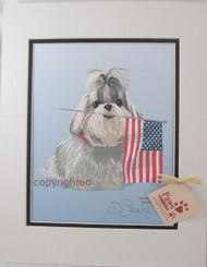 All-American Shih Tzu prints add spirit to any spot!