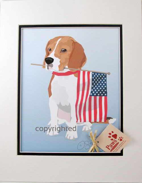All-American Beagle Prints