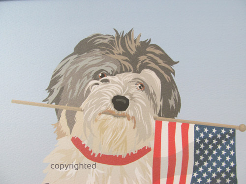 Havanese and Flag Prints