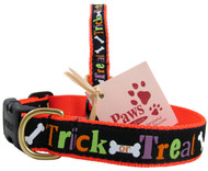 Nothing spooky about these Halloween dog collar made in USA.