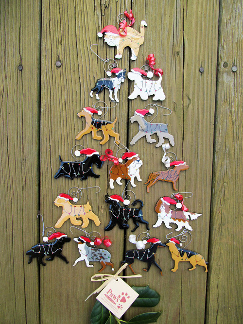 Dog and Cat Christmas Ornaments made in USA