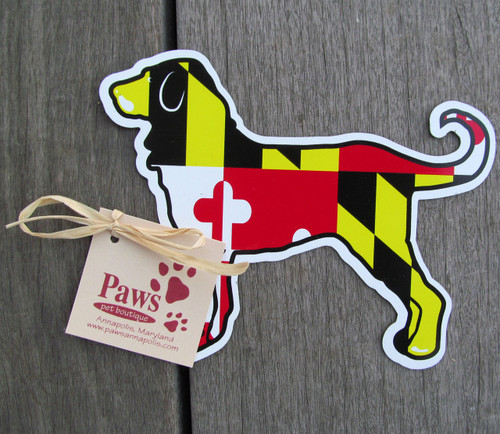 Maryland flag dog stickers