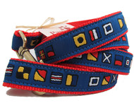 Unique nautical flag dog leashes are made in USA.