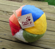 This beach ball dog toy is ready for a play date!