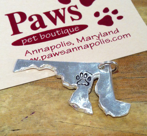 Unique Maryland Charms with Paw Print by Tracy Menz.