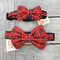 Red Plaid Bow Tie Dog Collars