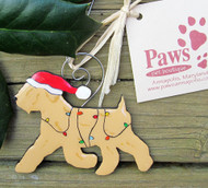 Santa Wheaten Ornaments are Hand-painted in USA