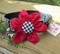 Black and White Houndstooth Flower Dog Collar