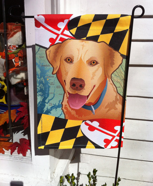 Attirant Yellow Lab Maryland Dog Flag