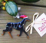 Cheery Christmas Doberman Ornaments are USA made.