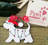 Westie Christmas Ornaments made in USA