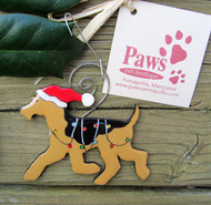Airedale Christmas Ornaments made in USA
