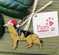 German Shepherd Christmas Ornament made in USA