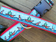 Holiday Boats Dog Collars