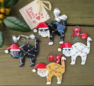 Handmade Cat Christmas Ornaments