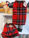 Red Plaid Fleece Dog Coats for All Sizes