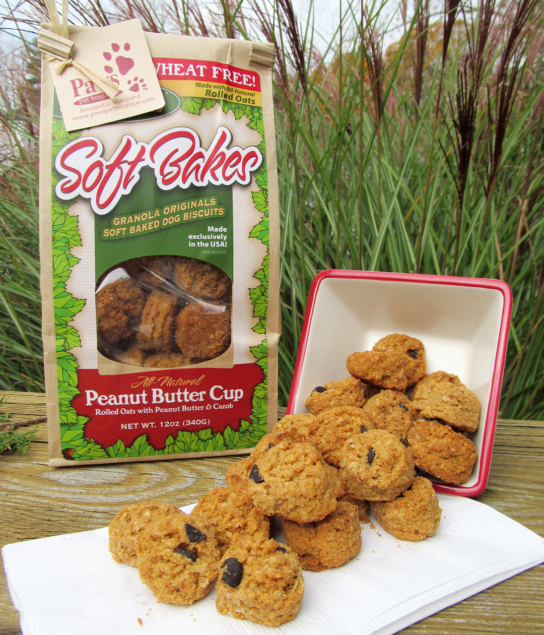 Soft Peanut Butter Dog Treats, Wheat Free
